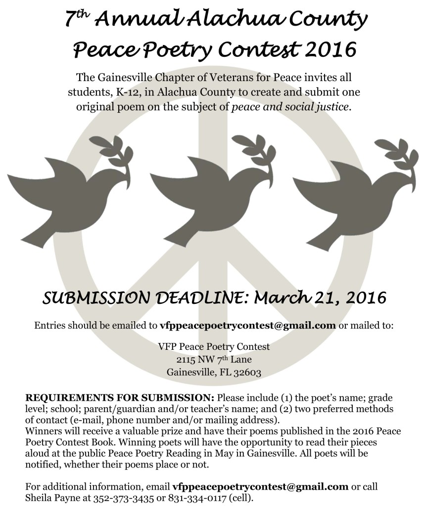 Peace Poetry Announcement 2016 FLIER